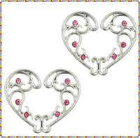 Wholesale Nipple Adjustable - 3 Pair Sexy Non Pierced Clip On Fake Nipple Ring pink diamond Body Jewelry Shield Cover Clamps Adult Sex Toy Piercing Adjustable Size