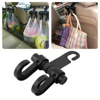autositze haken großhandel-Empfindliches Auto Selbstbefestigungsklammer-beweglicher Sitzfahrzeug-Aufhänger-Geldbeutel-Beutel-Organisator-Halter-Haken Neu