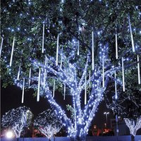 2017 New 30cm Meteor Shower Rain Tubes Led Light Lamp 100-240V EU US Plug Chaîne de Noël Light Wedding Garden Decoration Xmas