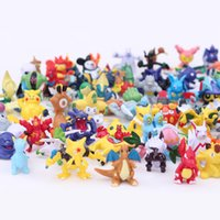 144 Pcs 2 -3 Cm Pikachu Action Figure Jouets Cartoon japonais Anime Mini Collections Cadeaux d'anniversaire Cartoon Doll Toy
