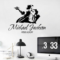 Wholesale Cupboard Decoration - Jackson's dance sticker wall sticker home decoration DIY wall window door cupboard stickers removable wall stickers