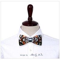 Wholesale Mens Designer Bow Ties - 2017 mens women fashion original brand designers handmade feather bow tie boys bowtie wedding neck ties pajaritas hombre noeud papillon