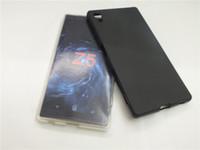 xperia case gel al por mayor-Envío gratis cubierta de la caja de gel de silicona mate TPU para Sony Xperia Z5