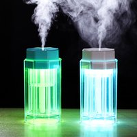 Wholesale rohs atomizers for sale - Group buy Mini portable air humidifier colorful LED lamp USB atomizer ultrasonic humidifier aromatherapy home office car mist humidifier