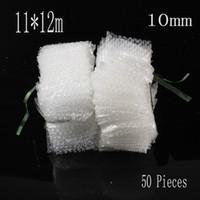 Wholesale Packing Materials - Wholesale-11*12cm 50Pcs Bubble 10mm Wrap Protective Bubble Bags Material De Embalaje Laser Cut Craft Higu-Quality Packing Foam Bubble Film