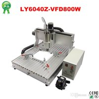 Wholesale Cnc Router Machine Water Cooling - CNC Router LY6040Z-VFD800W 3axis CNC engraving Machine with water cooling spindle