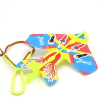 Wholesale night flying toys - Elastic flash aircraft, hot sales, light-emitting catapult, flying arrows, flying toys, wholesale stalls, goods night market source