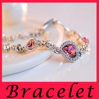 Wholesale Korean Women Beaded Bracelets - Fashion Jewelry stores love bracelet bangles fashion charm bracelets for women bestie Korean accessories wholesale hot Blue Crystal Bracelet