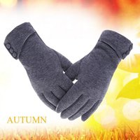 Wholesale Winter Essentials - Winter riding windproof warm glove Fleece gloves Mixed cashmere women's gloves bike essential touch-screen gloves