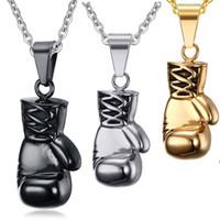 Wholesale Fist Pendant - Wholesale manufacturers Hot selling ROCK titanium steel Jewelry Fist Gloves pendant necklace for men