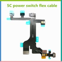 <b>Power Switch</b> On Off Flex con el botón de menú y control de volumen Cable Flex para iPhone 5c