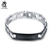 Wholesale Great Wall Gift - Wholesale Hot Sale New Fashion Men Women Bangle Bracelets Stainless Steel Great Wall Pattern Bracelet GTB28