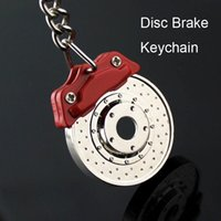 Wholesale Disc Brake Plate - Wholesale Disc Brake Model Keychain Creative Fashion Hot Sale Auto Part Accessories Car Keyring Key Chain Ring 50PCS LOT