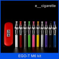 balmumu küre ego kiti toptan satış-Ego başlangıç kiti Cam küre tankı balmumu kuru ot buhar atomizer Elektronik sigara M6 EGO-T Fermuar kılıf pil Clearomizer e sigaralar