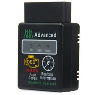 Wholesale Wireless Obd Scanner - High Quality Version 2.1 HH OBD Advanced V2.1 Black Bluetooth OBD2 Car Auto Can Wireless Adapter Scanner Tool