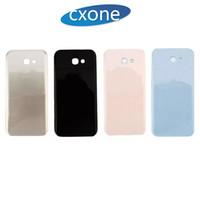 carcaça do iphone 5s bezel venda por atacado-Carcaça Traseira Para Samsung A310 A320 A520 A520 A720 Carcaça Da Bateria Traseira Caso Tampa de Vidro Reparação Reparo Branco Preto Ouro Rosa