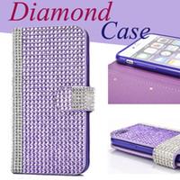 Wholesale Apple 3d Bling Handmade - Iphone 6 6s Cases Cover 3D Handmade Shiny Bling Sparkle Glitter Diamond Rhinestone Vintage Design Premium Wallet Flip Cover CaSe SCA176