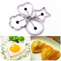 Wholesale 4 Style Egg Tool Stainless Steel Fried Egg Mould DIY Omelette Egg Ring Pancake Creative Cooking Tool Breakfast Egg Moulds