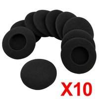 Wholesale Ear Pad Earpad Cover - 10 X Headphone Earphone Foam Ear Pad Earpad Cover 64mm