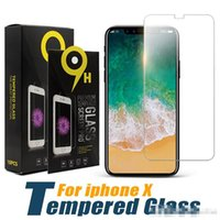 Wholesale Iphone 5s Retail - For iPhone X Screen Protector 9H Tempered Glass 0.33mm Protector Film For iPhone 8 iPhone 5 5S with Retail Package
