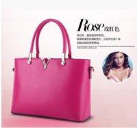 Wholesale Letter Shoulder Bag - Fashion handbags v letter Women Messenger Bag leather bag shoulder bag new handbag
