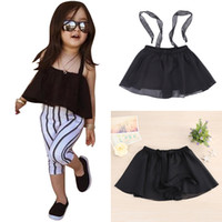 Wholesale Kids Sun Dresses - Wholesale- Baby Girls Sun-top Dress Kids Infants Girl Summer Clothing Gauze Suspender Dress Tops Children Clothes 2017 New Hot #LD789