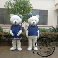 Wholesale Wholesale Plus Size Mascot Costumes - Couple Bears Mascot Costume , free shipping