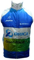 Wholesale Orica Greenedge Cycling Clothing - 2016 greenedge orica windproof Cycling Vest Cycling Jersey Sleeveless Quick Dry Ropa Ciclismo Summer MTB Bike Cycling Clothing
