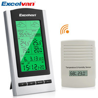 Wholesale Excelvan Desktop Weather Station Wireless Weather Forecast Monitor LCD Digital Thermometer Temperature Humidity Meter lt no tracking