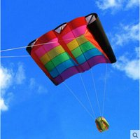 Wholesale Bird Kites - Wholesale- Outdoor Fun Sports Rainbow Colorful Birds Wing Weifang Kite Flying Umbrella Cloth Easily The Most Beautiful Sky