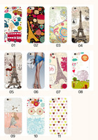 Wholesale iphone6s plus phones for sale - For Apple iphone6s plus phone case iphone6 SE silicone case landscape Plating TPU cell phone cases Eiffel Tower
