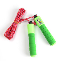 Wholesale Gym Jump - Colored Counting Skipping Rope Outdoor Sports Supplies Gym Fitness Losing Weight Equipment Cotton Sponge Handle Skipping Rope