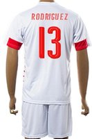 Wholesale Swiss 11 - Customized 16-17 European Cup Swiss away 13 RODRIGUEZ Soccer Jersey Sets,Cheap 11 DRMIC uniforms,9 SEFEROVIC 8 INLER Football Jerseys KITS