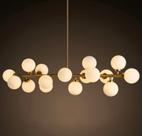 Wholesale Dna Pendant Light - Modo chandelier LED creative modo DNA pendant light 16 18 Globes glass lampshade chandelier LED lighting fixture