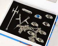 Wholesale Hitman Cosplay - Katekyo Hitman Reborn Vongola 7 Ring Necklace Set Cosplay Free Shipping