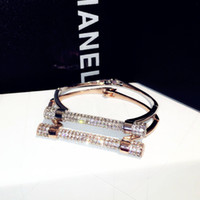 Wholesale Rose Gold Diamond Bracelet - European simple and luxury diamond-studded bracelet silver rose gold color bracelet