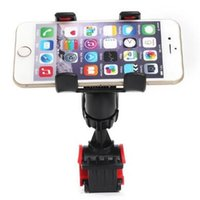Wholesale Gps Navigator Bike - 360 Degree Rotating Bike Bicycle Handlebar Phone Holder Stand Dual Mount Bracket For iPhone 6 Plus Galaxy S7 EDGE Outdoor GPS Navigator