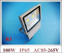 Wholesale Wall Washer Lights White - LED flood light 100W(2 X 50W) LED floodlight spotlight flood lamp wall washer outdoor AC85-265V 7000-8000lm new design