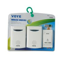 UK free shipping doorbell - 2016 NEW arrive Home Wireless Digital 2 Receivers Doorbell+1 Remote Doorbells Control 38 Songs Musical Tunes Door bell Chime free shipping