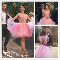 Wholesale Ever Pretty - 2016 Said Mhamad Pink Short Cocktail Dress Flowers Organza Backless Mini Evening Gowns Women Ever Pretty Dress Robes de Cocktail Courte Soir