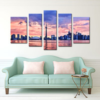 Wholesale Furniture Wall Decor - 5 Piece Wall Art Painting Toronto Prints On Canvas The Picture City Oil For Home Modern Decoration Print Decor For Furniture