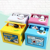 Wholesale Panda Gifts Boxes - Ola Panda Thief Money Boxes Toy Piggy Banks Gift Kids Money Boxes Automatic Stole Coin Piggy Bank Money Saving Box Moneybox Toys