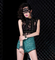Wholesale Fun Blindfold - 2015 woman Sexy Temperament lace veil mask fun mask party dance bar nightclub sexy lace blindfold A072003