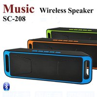 Wholesale Usb Card Package - SC-208 Bluetooth Music Wireless Speaker A2DP Stereo Player Megabass Speaker Handsfree TF Card AUX 3.5mm With Retail Package MIS129