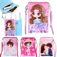 Wholesale Cartoon Baby Girls Bag - New Baby Bags Kids Cross Body Shoulder Bags Cartoon Pattern Purse Bag Girl Fashion PU Bag