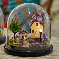 Wholesale Dollhouse Miniature Glasses - Wholesale-B019 Provence farm wooden doll houses miniature assembling dollhouse diy glass ball toys kit