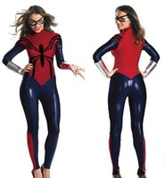 Halloween Female Spider Man Cosplay Сексуальные костюмы 2018 PVC Teddie Goggle Wrist Band Uniform Temptation Sexy Costumes FS3102