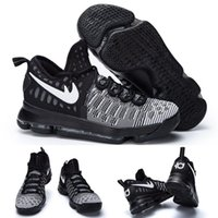 Wholesale Ready Cut - (With shoes Box) Kevin Durant KD 9 IX Low Black White Ready to ship 843392-010 Men Basketball Sport Shoes