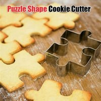 Wholesale Muffin Cutter - 300pcs Stainless Steel Puzzle Shape Sugarcraft Cake Decorating Fondant Cutters Tool Cookies And Muffins Craft Molds ZA0687