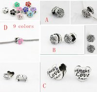 Wholesale Lock Fit Stopper Beads - Silver plated Metal Clips Lock Stopper Safety buckle locket charms beads European Beads Fit Chain DIY Bracelet Jewelry Findings